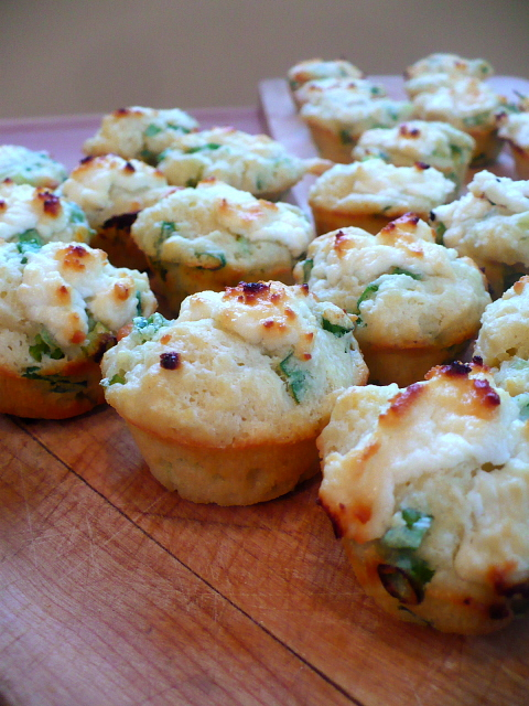 Goat Cheese and Green Onion Mini Muffins