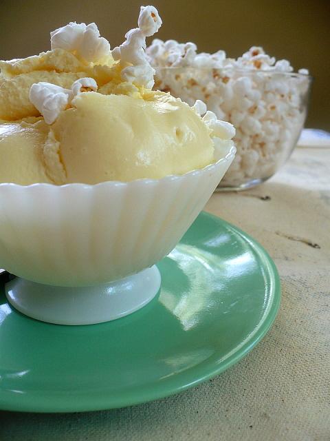 Buttered Popcorn Ice Cream - Clockwork Lemon