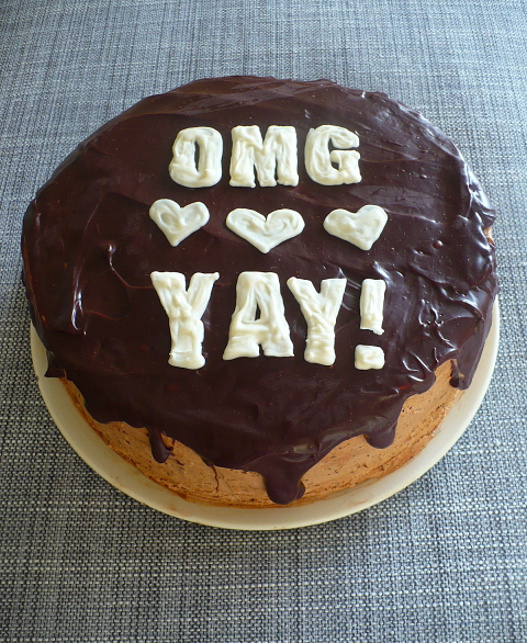 Chocolate engagement cake