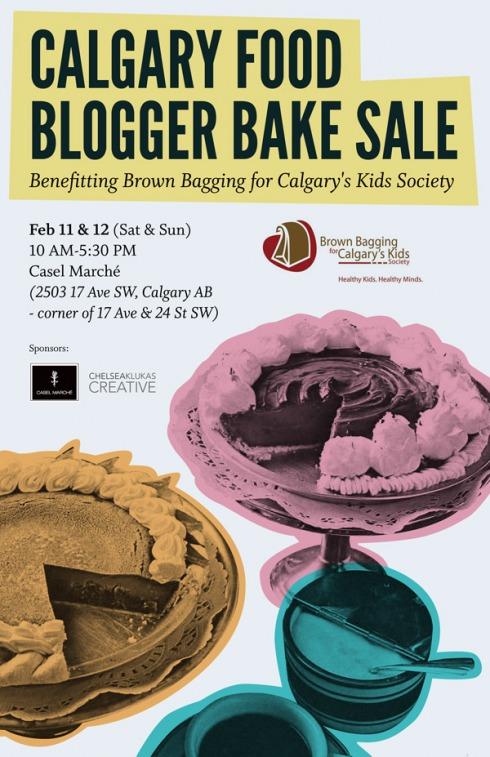 Calgary bake sale poster