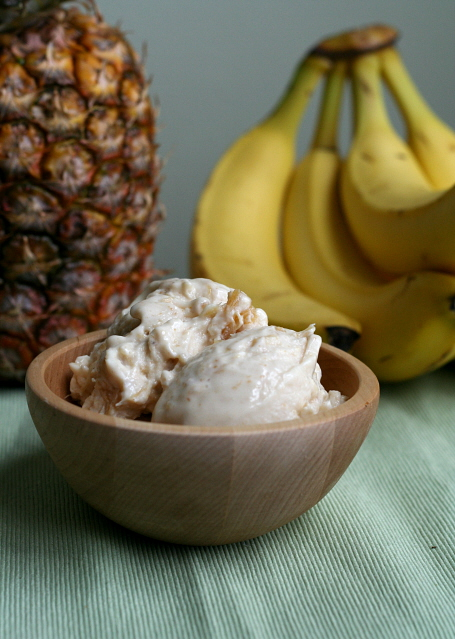 Pineapple Brown Sugar Frozen Yogurt