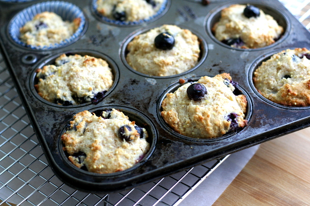 Blueberry Honey Millet Muffins
