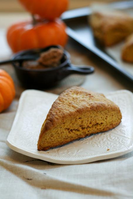 Pumpkin Scones with Cinnamon Butter {Clockwork Lemon}