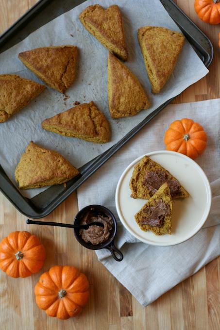Pumpkin Scones with Cinnamon Butter {Clockwork Lemon}-2