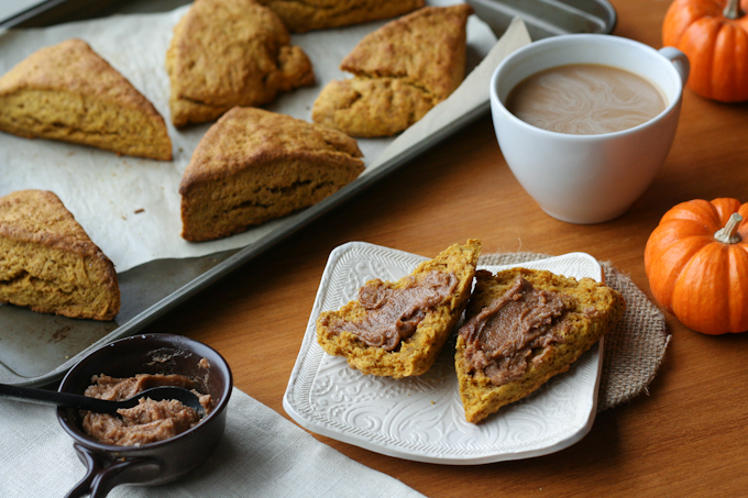 Pumpkin Scones with Cinnamon Butter {Clockwork Lemon}-5