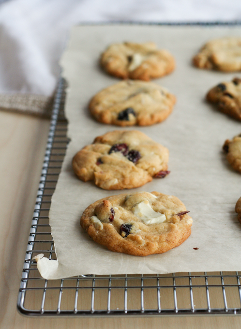 Cranberry & White Chocolate Brown Butter Cookies-7