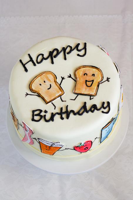 Breakfast Themed Birthday Cake Clockwork Lemon