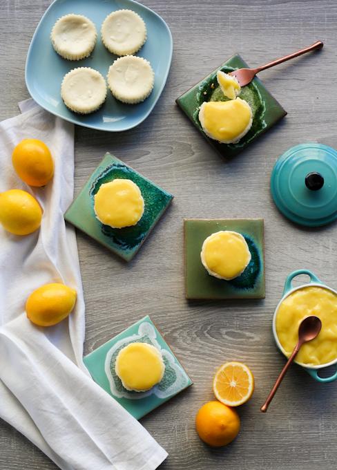 Mini Lemon Cheesecakes-1