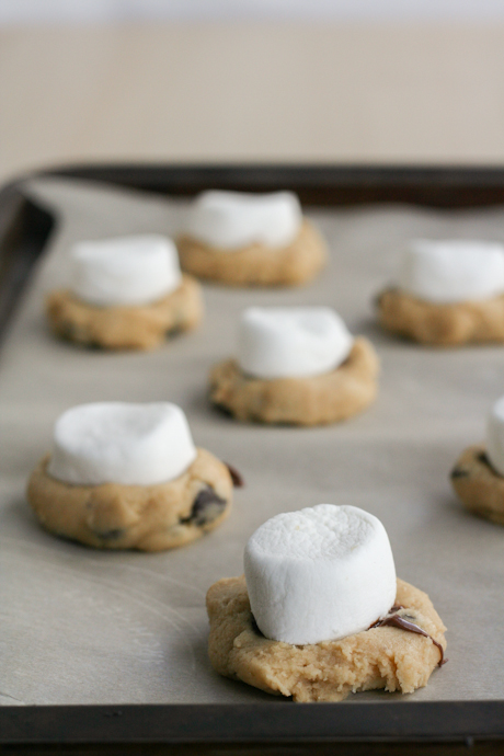 Toasted Marshmallow and Nutella Chocolate Chip Cookies-13