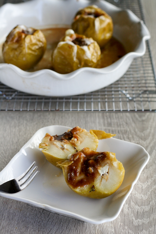 Baked Cream- Cheese Apples-1