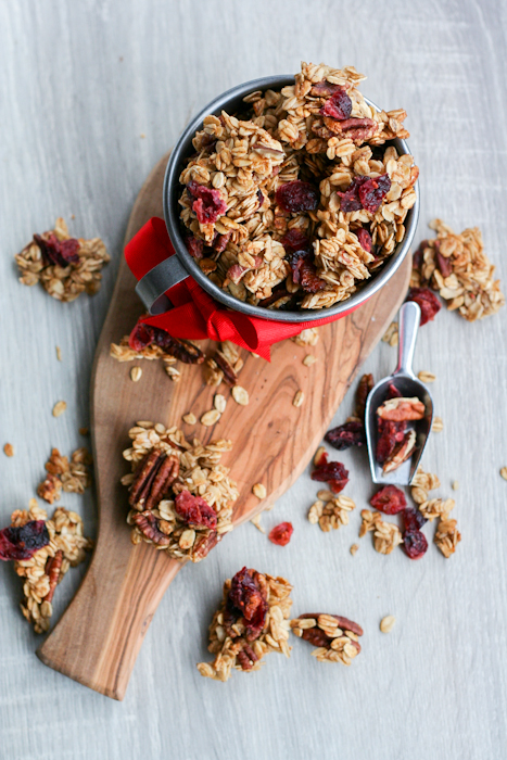Cranberry Spicy Clumpy Granola-30