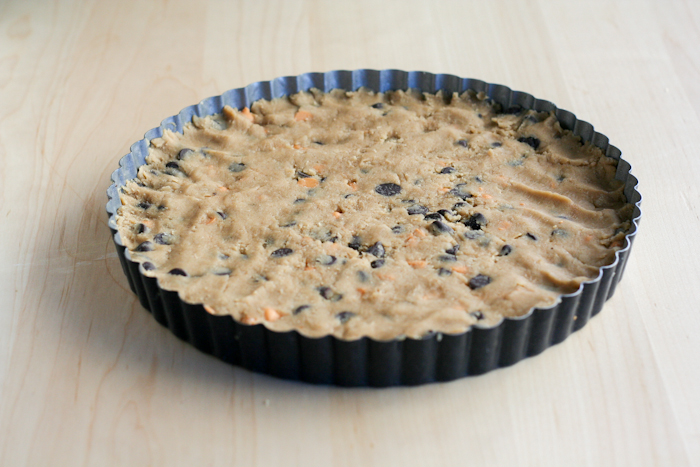 Chocolate Chip Cookie Tart - Clockwork Lemon