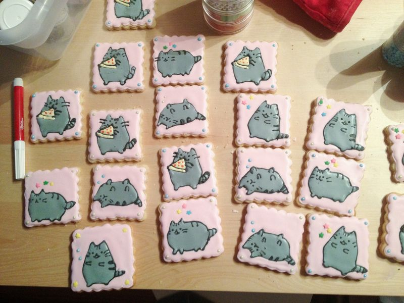 Pusheen Cookies 1-1