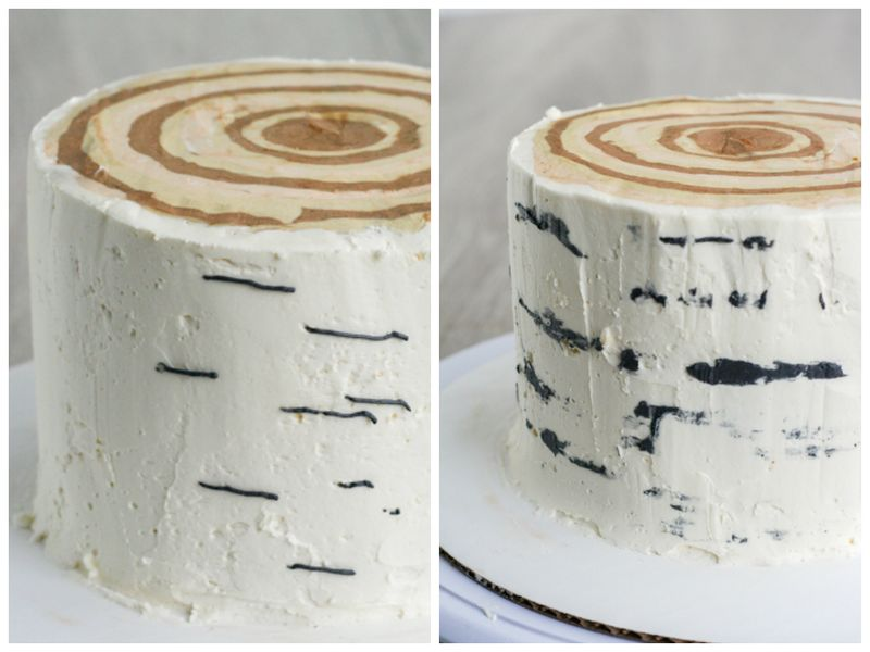 Birch stump cake