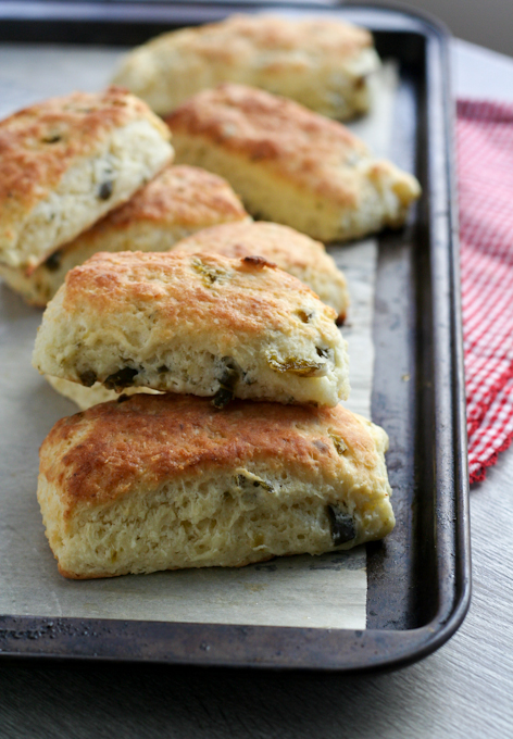 Cream cheese and candied jalapeno scones-18