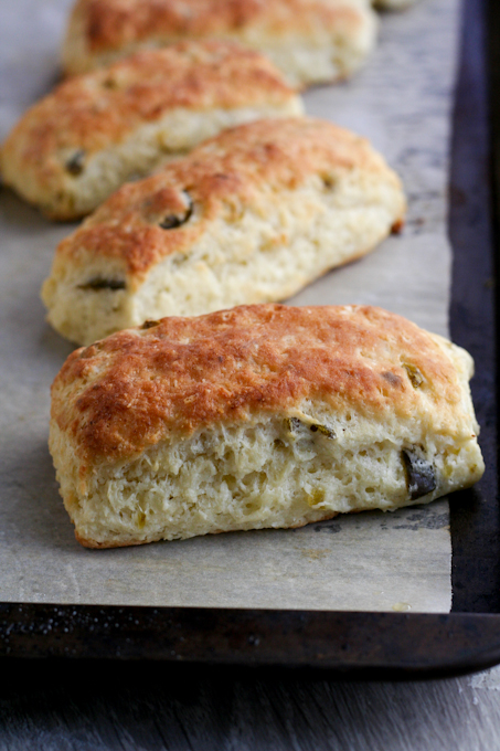 Cream cheese and candied jalapeno scones-14