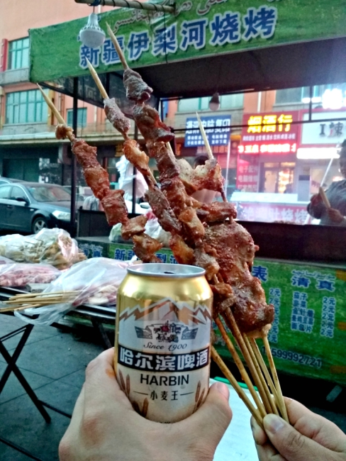 Harbin street food china grilled meat night market2